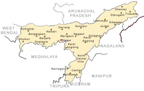 Maps Of Assam Assam Map Tourist Maps Of Assam Assam City Map Map