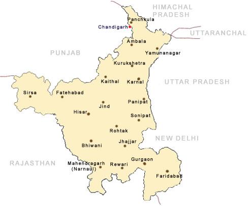 Haryana India Map.Maps Of Haryana Haryana Map Tourist Maps Of Haryana Haryana City