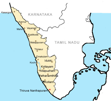 Map Of Kerala. Kerala Map