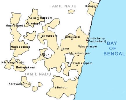 Maps Of Pondicherry Pondicherry Map Tourist Maps Of Pondicherry - Pondicherry map