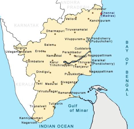 Maps Of Tamilnadu Tamilnadu Map Tourist Maps Of Tamilnadu - Tamilnadu map